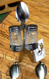 forked salt and pepper