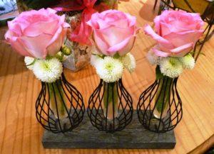 triple pink rose